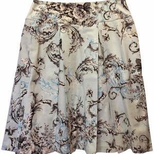 St. John Light Blue Print Skirt Size 6 S